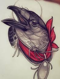 эскиз тату с головой птицы олд скул эскиз тату татуировки и
