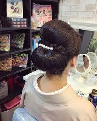 ママ 結婚式 和装 セミロング福岡天神ヘアセット着付け専門店three