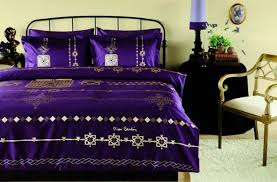 bluish purple bedding fabric