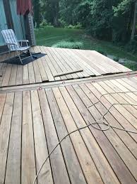 dryfit and install middle deck boards may june 2018 ac2 cedartone deck boards from menards 2018 deck renovation deck at its longest length is 26 5 feet