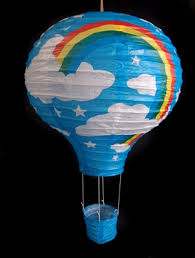 Turquoise Rainbow Hot Air Balloon Paper Lantern from PaperLanternStore at  the Best Bulk Wholesale Prices.