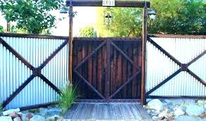 corrugated metal fence panels recycled and gate cost vs wood regarding corrugated metal fence cost