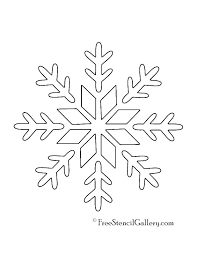 Printable Snowflake Pattern Large Tutorial Template Free