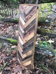 rustic wood wall art herringbone wood
