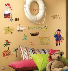 treasure hunt 45 pirate wall stickers room decor map chest ship island decals 1 of 3free see more