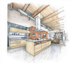 interior design sketches kitchen. Design Sketches Kitchen To Draw With Two Point Perspective Making Beautiful S Drawing Drawn Freehand Furniture Interior E