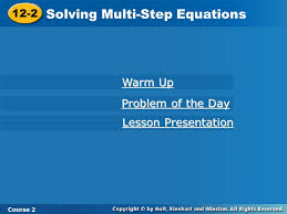 11 3 solving equations with variables on both sides course 2 warm up warm up