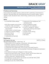 Richemont North America Sap Regional Key User Resume Sample