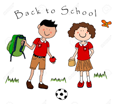 Clip art character girl in school uniform