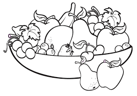 fruit plate coloring page with coloring pages of fruits in a basket color fruits fruit plate coloring page with coloring pages of fruits in a on coloring pages of fruits in a basket
