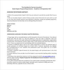 Book Proposal Template 16 Free Sample Example Format Download