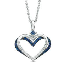 the kindred heart from vera love collection sapphire and 1 10 ct t w