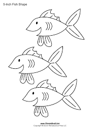 Blank Fish Template printable fish templates for kids preschool fish shapes on 3 7 8 inch printable template