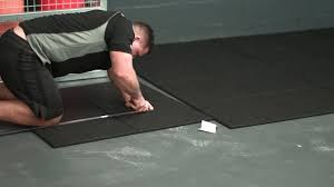 how to install versafit commercial rubber gym flooring tiles
