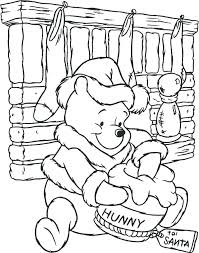 Disney Christmas Coloring Pages Free Printable With Coloring Pages