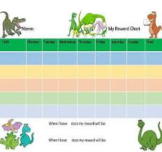 Re Usable A4 Dinosaur Reward Chart Including Stickers