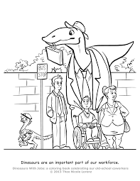 Small Picture Dinosaurs With Jobs Free coloring pages Art giveaway Theo