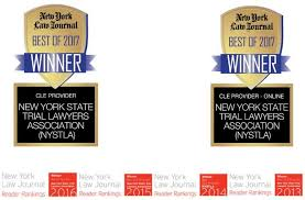 nystli has continued its tradition of excellence and has reaffirmed its title as best cle provider in the new york law journal s best of survey