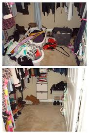 Closet Organization - Before and After