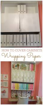 how to cover furniture. How To Cover Cabinets With Wrapping Paper Furniture