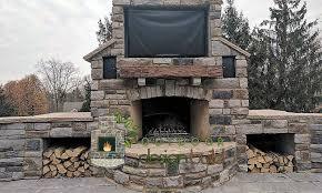outdoor stone fireplace. Cincinnati Outdoor Fireplaces Throughout Stone Idea 8 Fireplace O