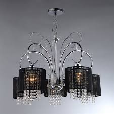 warehouse of tiffany 26 in 5 light chrome vintage shaded chandelier