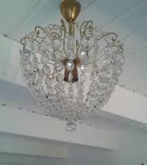 Antik Plafoniere Kronleuchter Lüster Kristall