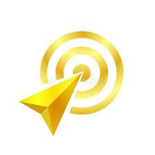 La Freccia Dell'oro Del Simbolo Di Scopo, Il Concetto Dell'oro Della Freccia è Simbolizza Lo Scopo Ed Il Successo, Logo Della Fre Illustrazione Vettoriale - Illustrazione di icona, verde: 150196926