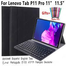 Bàn Phím Cho Lenovo Tab P11 Pro 11 11.5 Tab J606F Tab XJ706F Ốp Lưng Bàn  Phím Bluetooth Có Thể Tháo Rời Bao Da Pu Vỏ Vỏ máy tính bảng & e-book