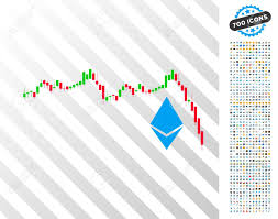 Ethereum Falling Chart Pictograph With 700 Bonus Bitcoin Mining
