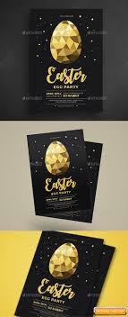 Gold Easter Egg Hunt Party Flyer Free Download Free