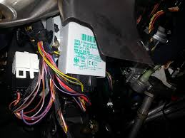bmw e39 ews removal locate the ews module it is white green lettering
