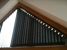 How To Cover A Trapezoid Window  Window Window Coverings And Blinds Triangular Windows