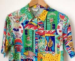 90s Pattern Shirts Impressive Vintage Multicolour 48's Pattern Shirt 48's Print By Tukvintage