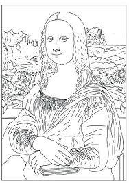 Mona Lisa Coloring Page Printable Leonardo Mona Free Printable Lisa