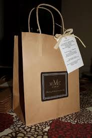 wedding welcome bags anthropology woodland classic style guest bag