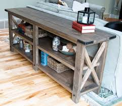wooden console table. Recalimed Wood Console Table Wooden