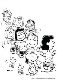 peanuts characters coloring pages snoopy thanksgiving