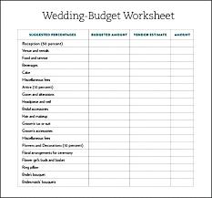 free wedding budget worksheet excel template for wedding budget in estimate detailed uk planner