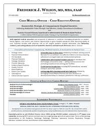 Executive Resume Writing Chief Medical Officer Resume Sample Page 1 Executive