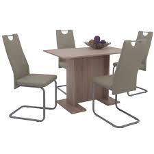 Details Zu Esszimmerset Küchen Sitzgruppe Schwing Stühle Essgruppe Tisch Eiche Sonoma Braun
