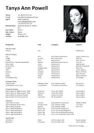 Modern Acting Resume Skills Image Documentation Template Example