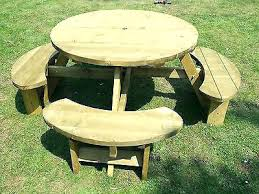 round picnic table wooden round picnic table 5 of 6 round picnic table bench table top round picnic table wooden
