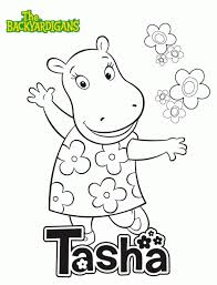 Small Picture the Backyardigans Coloring Pages for Learn while Playing