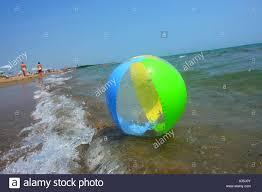Beach ball in ocean Stock Beach Ball At The Ocean Alamy Beach Ball At The Ocean Stock Photo 10677866 Alamy