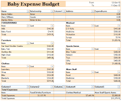 Budget Expenses Template 19 Free Baby Expense Budget Templates Ms Office Documents