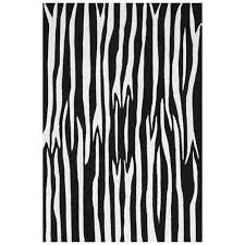 get ations black white zebra hand tufted wool rug