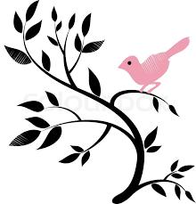 Tree Design Vector Design Of A Bird On A Tree Stock Vector Colourbox