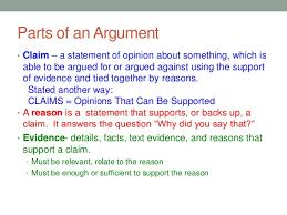 what is an argument a foundation for ela in the common core era 7 parts of an argument bull claim