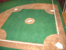 custom made wall to wall carpet with a baseball diamond by g baseball wall